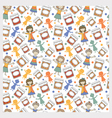 kids with jam pattern1 big vector image