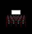 lecture hall in cinema people sit on armchairs vector image