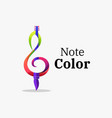 logo note color gradient colorful style vector image