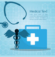 medical first aid kit stethoscope vector image vector image