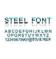 metal steel alphabet vector image vector image