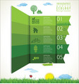 modern ecology green background design layout vector image