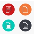 modern file colorful icons set vector image vector image
