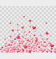 mothers day background with red hearts confetti vector image