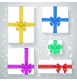 New Year gift box poster vector image vector image