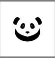 panda face icon head logo design vector image vector image