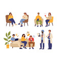psychotherapy concept doctor consulting personal vector image vector image