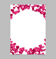 random heart page border background design - love vector image vector image