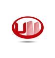 real estate logo template letter u logo vector image vector image