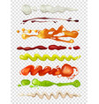 realistic of diffrent sauces for vector image