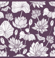 romantic seamless pattern with tender blooming vector image vector image