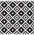 seamless tribal black and white pattern vector image