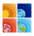 set of milkyway planets vector image
