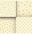 set of seamless patterns with bananas vector image vector image