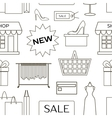 Set of shopping icons pattern vector image vector image