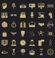 sport clock icons set simple style vector image vector image