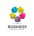 star color media logo vector image