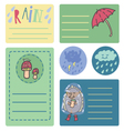 Summer rain sticker vector image vector image