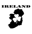 symbol of ireland and maps vector image vector image