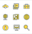 Thin Line Icon Set Icons for Website Mobile vector image vector image