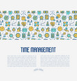time management concept with thin line icon vector image vector image