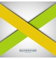 Two crossed lines on a gray background vector image vector image