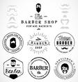 Vintage Barber Shop Badges and Labels vector image