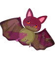watercolor bat isolated on white background vector image vector image