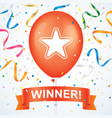 winner greeting card vector image vector image