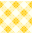 Yellow White Flower Diamond Chessboard vector image vector image