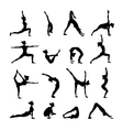 Yoga Set Black vector image vector image