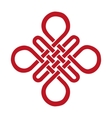Auspicious Endless knotBuddhist symbolRed vector image