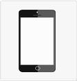 black smart mobile phone vector image
