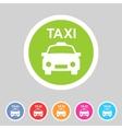 taxi car icon flat web sign symbol logo label vector image