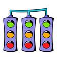traffic lights icon icon cartoon vector image