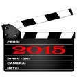 2015 clapper board vector image vector image