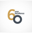 60 year anniversary excellence template design vector image vector image