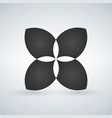 abstract flower shape concept can be used for ui vector image vector image