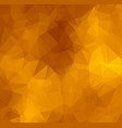abstract shades of orange abstract polygonal vector image vector image