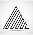 abstract triangle of line design element vector image vector image
