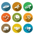 Aliens search Contact Icons Set vector image vector image