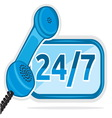 All day customer support call center vector image vector image