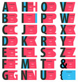 Alphabet Business card set vector image