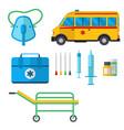 ambulance medicine health emergency car vector image