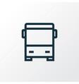 autobus outline symbol premium quality isolated vector image
