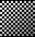 black and white checkered pattern vector image