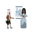 black woman doing business presentation vector image vector image