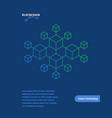 blockchain like future technology layout vector image vector image