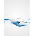 Blue shiny hi-tech motion waves background vector image vector image
