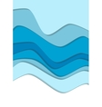 Blue water curve waves background vector image vector image